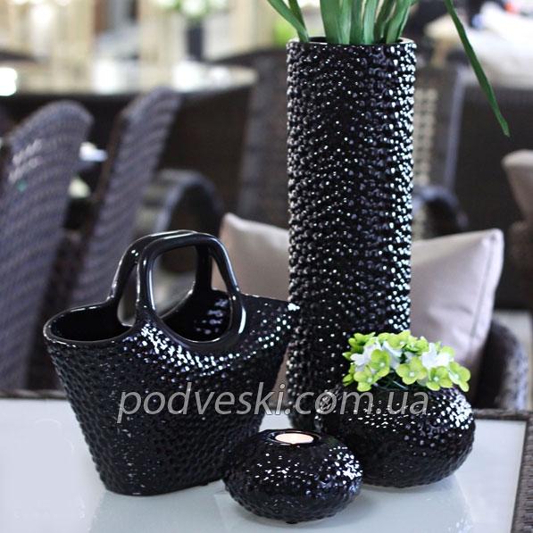 черные вазы Этна купить Киев Украина