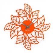 Настенные часы металлические Листья 50 см