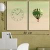 Картина с часами на холсте Полет на шаре