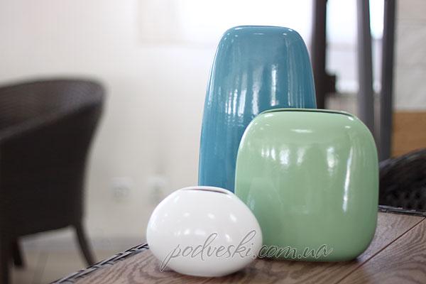 голубая зеленая ваза декор купить цена