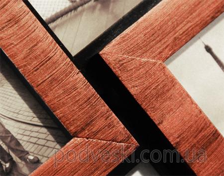 Симметрия медное мерцание фоторамка коллаж мультирамка дерево деревянная купить Киев