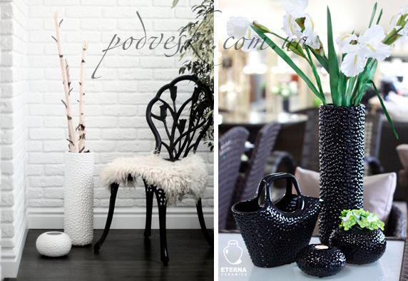 вазы Этна купить белую вазу в интерьер