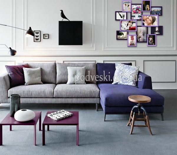 мультирамка декор фиолетовый интерьер фоторамка купить