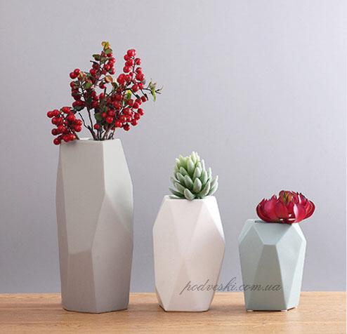геометрические вазы полигональная ваза купить декор цена